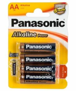 Panasonic Alkaline 4 x AA Batterier