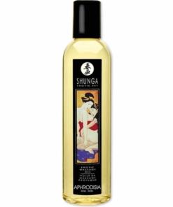 Erotisk massasjeolje med behagelig duft av roser. 250 ml fra Shunga.