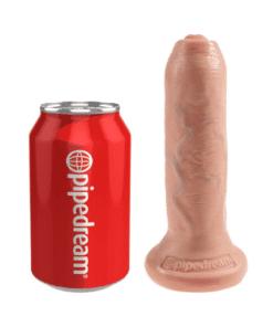 King Cock - Uncut Dildo Med Forhud 16,5cm